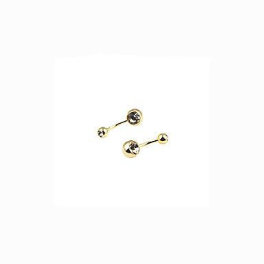 ieftine Bijuterii de Corp-Inel inelar / Piercing pe burta femei Modă Pentru femei Bijuterii de corp Pentru Zilnic Casual Cristal Cristal Placat Auriu Diamante Artificiale