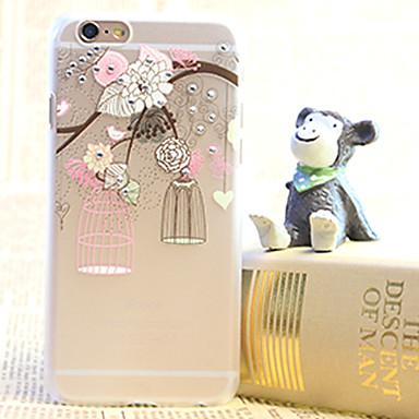 Iphone 6 Için Elmas Kuş Kafesi Boyama şeffaf Plastik Kasa 3184511