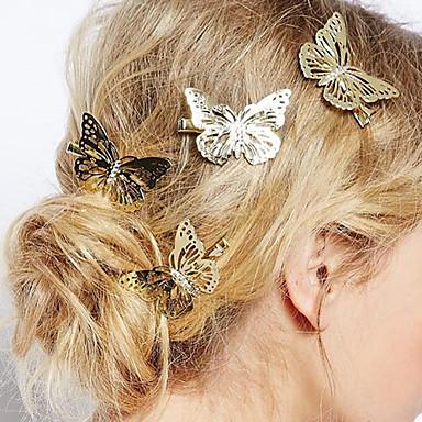 Недорогие Украшения для волос-Жен. Заколки Назначение Повседневные Цветы Сплав Золотой