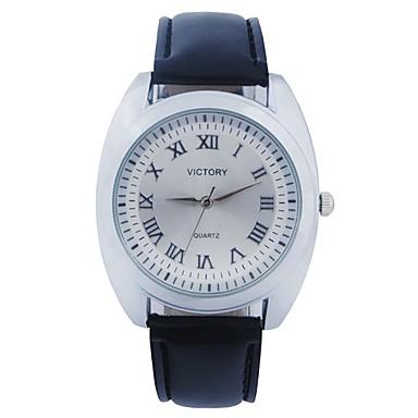 Pánská móda ve stylu římské číslice kruhový hodinky vytočit PU kůže popruh  quartz náramkové hodinky 2958634 2019 – €16.99 65658e48ed