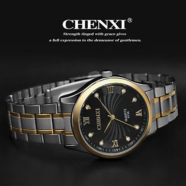 dc7e32a838a CHENXI® Homens Relógio de Pulso Quartzo Aço Inoxidável Prata ...