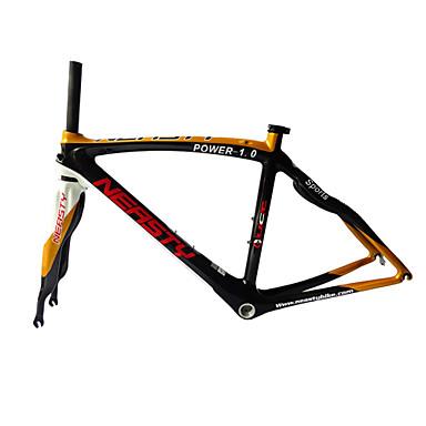 olcso Cycling Carrier-Treking váz Szénszálas Kerékpár Keret 700 C Fényes 3 K cm hüvelyk