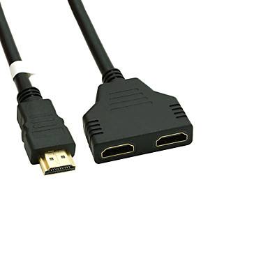 levne Kabely a adaptéry-pozlacené HDMI v 1.4 samce na duální HDMI zásuvka adaptér splitter kabelu