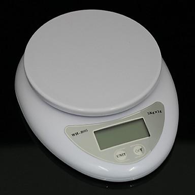 رخيصةأون أدوات الفرن-5 كيلوجرام 5000 جرام / 1 جرام مطبخ الغذاء حمية مقياس رقمي مقياس الوزن الإلكترونية موازين الميزان أدى جداول المطبخ الإلكترونية