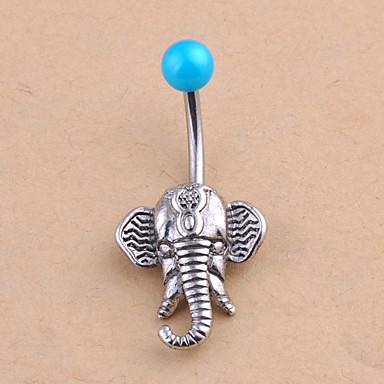 ieftine Bijuterii de Corp-Inel inelar / Piercing pe burta femei Design Unic Modă Pentru femei Bijuterii de corp Pentru Zilnic Casual Cristal Cristal Elefant Animal Argintiu