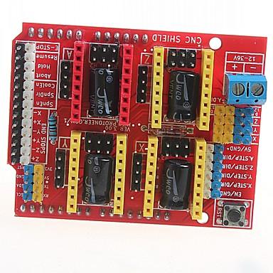 رخيصةأون النماذج-التصنيع باستخدام الحاسب الآلي درع V3 آلة الحفر طابعة 3D توسيع مجلس a4988 مجلس سائق لاردوينو