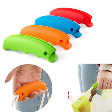 olcso Konyhai tárolás-1db szilikon bevásárló táska markolat kulcstartó lyuk (véletlenszerű szín)