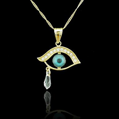 18k πραγματικό χρυσό επιχρυσωμένο κακό μάτι κρύσταλλο διαμάντι κρεμαστό  κόσμημα 3   4 εκατοστά 3393098 2019 – €4.99 176c70cf68e