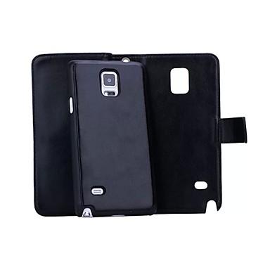 olcso Galaxy Note 5 tokok-Case Kompatibilitás Samsung Galaxy Note 5 / Note 4 / Note 3 Pénztárca / Kártyatartó / Mágneses Héjtok Egyszínű Kemény PU bőr