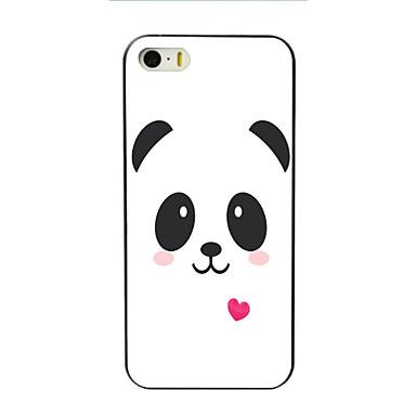 voordelige iPhone 5c hoesjes-hoesje Voor Apple iPhone 7 Plus / iPhone 7 / iPhone 6s Plus Patroon Achterkant Cartoon / Panda Hard PC