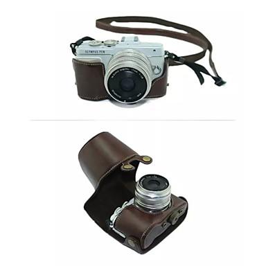 olcso Tokok-dengpin® védő levehető bőrből készült tok táska fedelét vállszíjjal Olympus E-PL7 (vegyes színek)