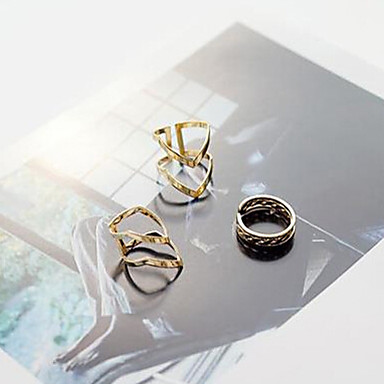 olcso Vallomás gyűrűk-Női Ékszer készlet Aranyozott Ötvözet hölgyek Személyre szabott Szokatlan Napi Hétköznapi Ékszerek
