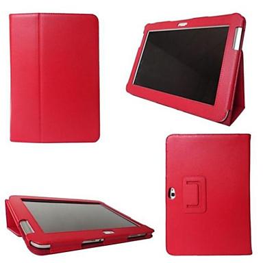 Недорогие Чехлы и кейсы для Samsung Tab-Кейс для Назначение Tab S 8.4 / SSamsung Galaxy / Вкладка S2 8.0 Tab 4 10.1 / Tab 4 8.0 / Tab 4 7.0 со стендом / Флип Чехол Однотонный Кожа PU