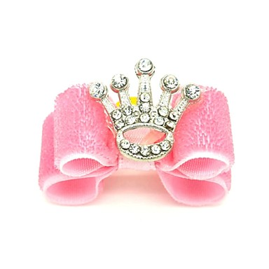 povoljno Odjeća za psa i dodaci-Mačka Pas Dodaci za kosu Masne Odjeća za psa Pink Kostim Miješani materijal Tijare i krune Kamado roštilj Vjenčanje