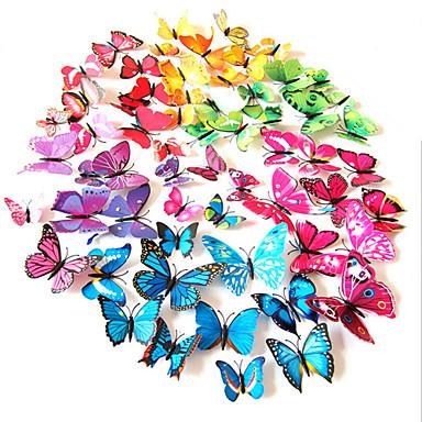 حيوانات ملصقات الحائط لواصق لواصق حائط مزخرفة لواصق مفتاح الاضاءة لواصق الثلاجة لواصق الزفاف, PVC تصميم ديكور المنزل جدار مائي جدار