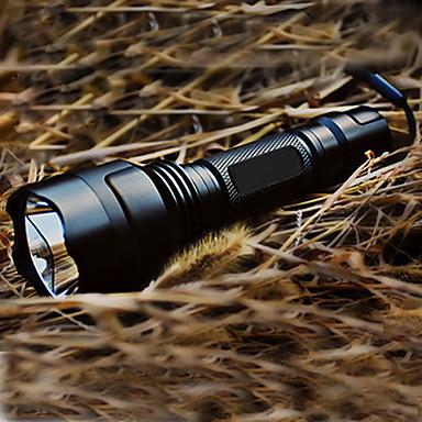 Lanterne LED Tactic Reîncărcabil 200 lm LED 1 emițători 5 Mod Zbor Cu Baterie și Încărcător Tactic Reîncărcabil Camping / Cățărare / Speologie Negru / Aliaj de Aluminiu