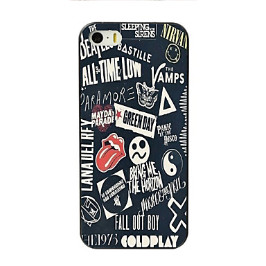 voordelige iPhone 5 hoesjes-hoesje Voor Apple iPhone 7 Plus / iPhone 7 / iPhone 6s Plus Patroon Achterkant Woord / tekst Hard PC