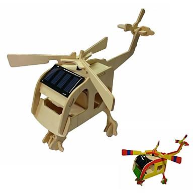 2399 Desen Colorat Diy și Solare Montate Elicopter Jucarii Kit