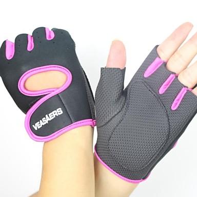[$10 99] Bike Gloves / Cycling Gloves Tactical Breathable Anti-Slip  Sweat-wicking Half Finger Sports Gloves Mesh Mountain Bike MTB Gray Fuchsia  Blue