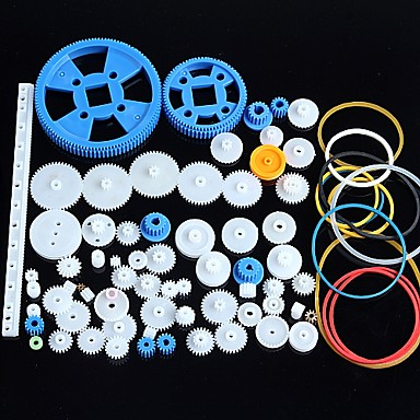 voordelige Arduino-accessoires-80 soorten plastic gear motor gear versnellingsbak pakket robot accessoires kit