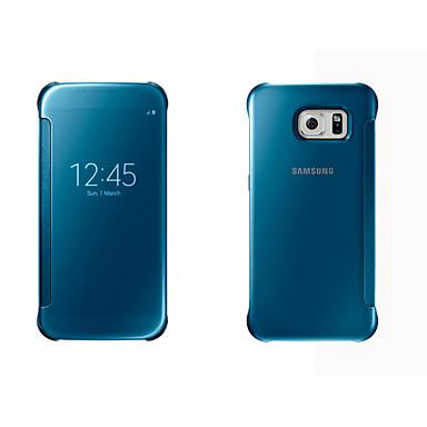 hoesje Voor Samsung Galaxy S8 Plus / S8 / S7 edge met venster / Automatisch aan / uit / Spiegel Volledig hoesje Effen Hard PC
