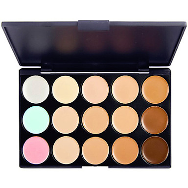 15 Culori Pudre Concealer / contur Cremă Iluminatoare & Bronz 1 pcs De lungă durată / Natural / Strălucire Ochi / Nas / Faţă Machiaj Cosmetic