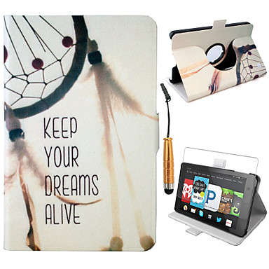 [$13 99] Elonbo® Keep Your Dreams Alive 360 Rotating PU Leather Protector  Case Cover For Amazon Kindle Fire HD 6 (4th Generation)