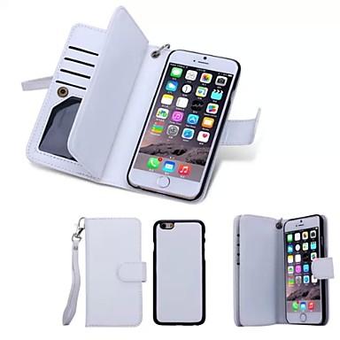 رخيصةأون أغطية أيفون-غطاء من أجل Apple iPhone 8 Plus / iPhone 8 / iPhone 6s Plus محفظة / حامل البطاقات / قلب غطاء كامل للجسم لون سادة قاسي جلد أصلي