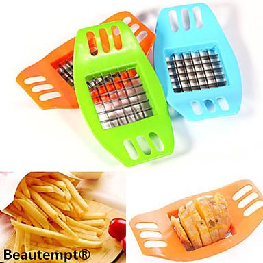 رخيصةأون أدوات الفاكهة & الخضراوات-1 قطع الفرنسية فراي البطاطس رقاقة قطع القاطع الخضار الفاكهة القطاعة المروحية chipper شفرة أدوات المطبخ سهلة