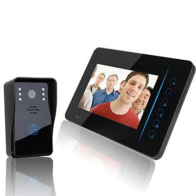 "cheap Access Control-ENNIO  2.4G 7"" TFT Wireless Video Door Phone Intercom Doorbell Home Security Camera Monitor DVR"