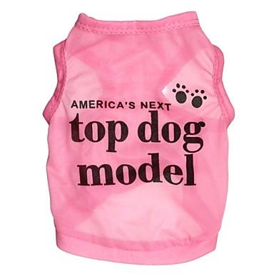 povoljno Odjeća za psa i dodaci-Mačka Pas T-majica Odjeća za psa Plava Rose Kostim Terilen Pismo i broj Cosplay XS S M L