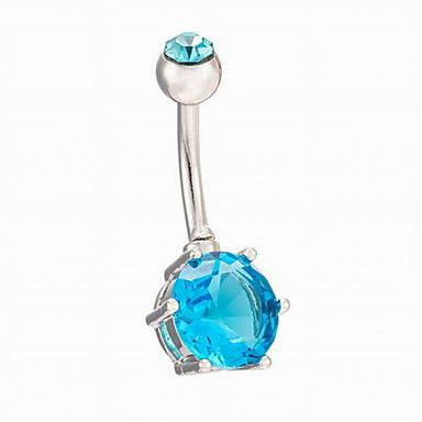 olcso Köldök ékszerek-Navel Ring / Belly Piercing - Rozsdamentes acél Női Bíbor / Kék / Rózsaszín Testékszer Kompatibilitás Napi / Hétköznapi
