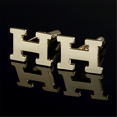 pánské osobní kapitálové iniciály písmeno h zlato Svatební košile manžetové  knoflíčky 3915835 2019 – €11.99 eedf2dcfa6