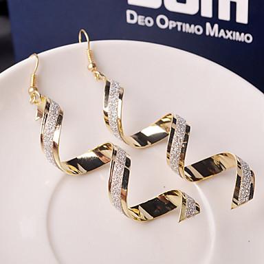 cheap Earrings-Women's Drop Earrings Hanging Earrings Wave Ladies Elegant Fashion everyday Earrings Jewelry Golden / Black / Silver For Wedding Party Daily Casual