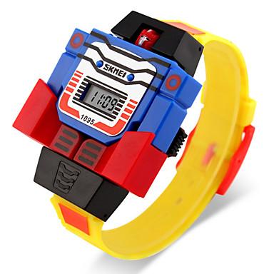 رخيصةأون ساعات الرجال-SKMEI ساعة رقمية كوارتز رقمي مطاط أزرق / أحمر / رمادي رزنامه LCD رقمي كرتون موضة - أصفر أحمر أزرق سنتان عمر البطارية / Maxell626 + 2025