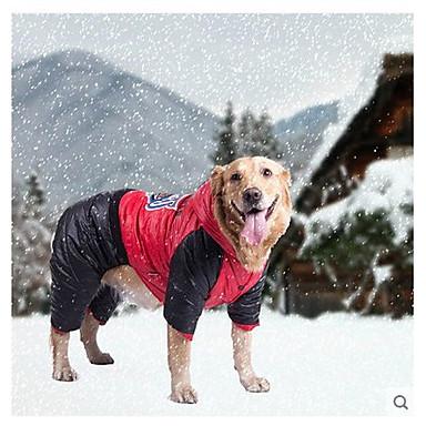 رخيصةأون ملابس وإكسسوارات الكلاب-كلب المعاطف سترة الشتاء ملابس الكلاب برتقالي أصفر أحمر كوستيوم طفل كلب صغير قطن S M L XL / كلب كبير