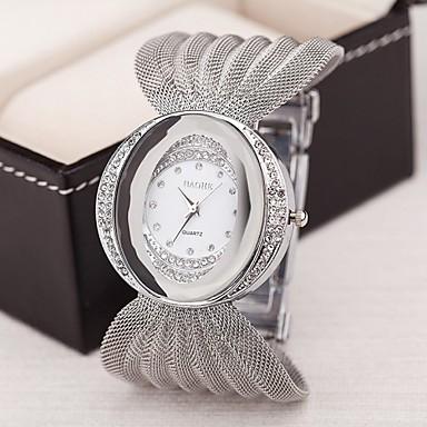 voordelige Dameshorloges-Dames Luxueuze horloges Armbandhorloge Diamond Watch Kwarts Dames imitatie Diamond Zilver / Bruin / Goud Analoog - Gouden Zilver