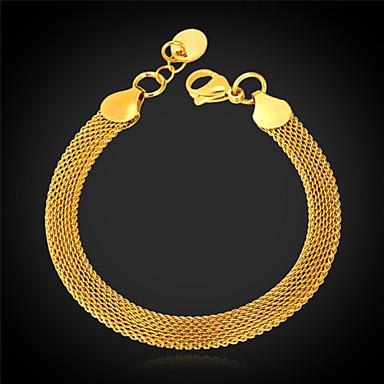 Pentru femei Brățări cu Lanț & Legături Brățară Figaro lanț Modă Dubai 18K Placat cu Aur Bijuterii brățară Pentru Cadouri de Crăciun Nuntă Petrecere Ocazie specială Zi de Naștere Cadou / Teak