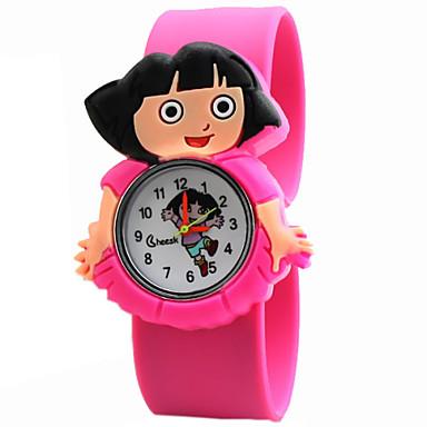 Dětské Módní hodinky Křemenný Silikon Kapela Komiks Modrá Červená Zelená  Růžová Fialová žlutá RoseRůžová Červená Zelená Růžová Světle 3936248 2019 –  €5.99 0d42704c58d