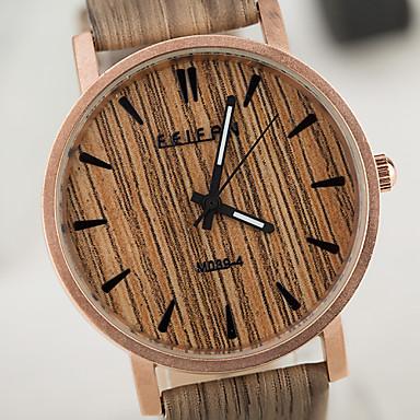 herren damen unisex armbanduhr einzigartige kreative uhr uhr holz wasserdicht h lzern quartz pu. Black Bedroom Furniture Sets. Home Design Ideas