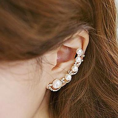 ieftine Cercei-Pentru femei Perle Cătușe pentru urechi Un Cercel Cățărătorii de urechi femei Personalizat Modă Perle Imitație de Perle Zirconiu Cubic cercei Bijuterii Auriu Pentru