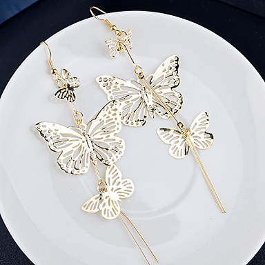 Women's Drop Earrings Cheap Ladies Elegant Earrings Jewelry Silver / Golden For Wedding Party Daily Casual