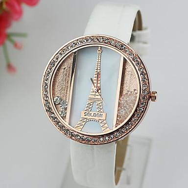 Mulheres Relógio de Moda Relógios Femininos com Cristais Quartzo imitação  de diamante PU Banda Torre Eiffel Preta Branco Vermelho Cores de 3958739  2019 por ... 45acdf64f6