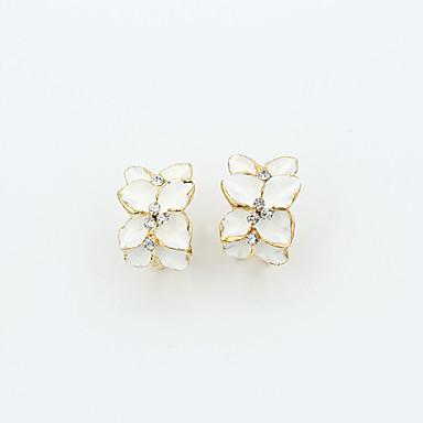 ieftine Cercei Stud-Pentru femei Cristal Cercei Stud femei European Modă 18K Placat cu Aur Ștras Placat Auriu cercei Bijuterii Negru / Alb Pentru / Diamante Artificiale / Cristal Austriac