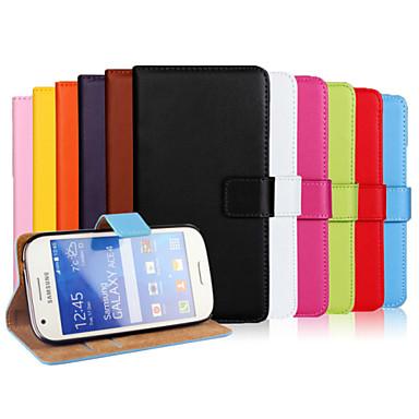 povoljno Maske za mobitele-Θήκη Za Samsung Galaxy Ace Style LTE Novčanik / Utor za kartice / sa stalkom Korice Jednobojni PU koža