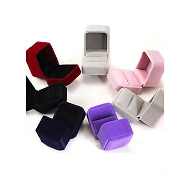 olcso Gyöngyök és ékszerkészítés-Doboz Négyzet Fülbevaló / Gyűrű / Ékszeres doboz - Modern Fekete, Piros, Kék 6 cm 5 cm 4 cm