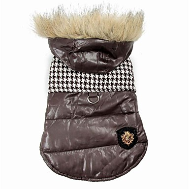 رخيصةأون ملابس وإكسسوارات الكلاب-كلب المعاطف هوديس الشتاء ملابس الكلاب أسود بني كوستيوم قطن S M L XL