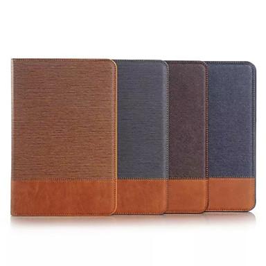 hoesje Voor Samsung Galaxy / Tabblad Een 9.7 Portemonnee / Kaarthouder / met standaard Volledig hoesje Effen tekstiili