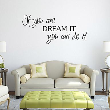 كارتون كلمات ومصطلحات ملصقات الحائط لواصق حائط الطائرة لواصق حائط مزخرفة, PVC تصميم ديكور المنزل جدار مائي جدار