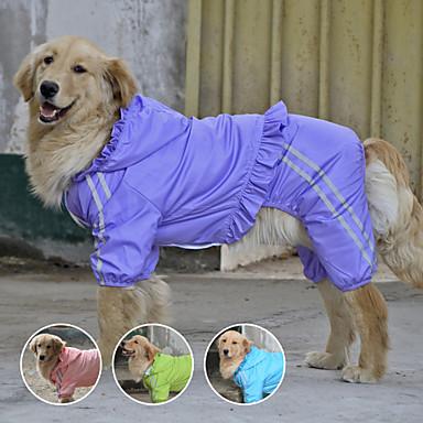 رخيصةأون ملابس وإكسسوارات الكلاب-كلب معطف المطر ملابس الكلاب مقاوم للماء أرجواني أخضر أزرق كوستيوم كلب كبير تيريليني مقاومة الماء XXXL XXXXL 5XL 6XL